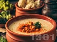 Крем супа от броколи и карфиол със заквасена сметана